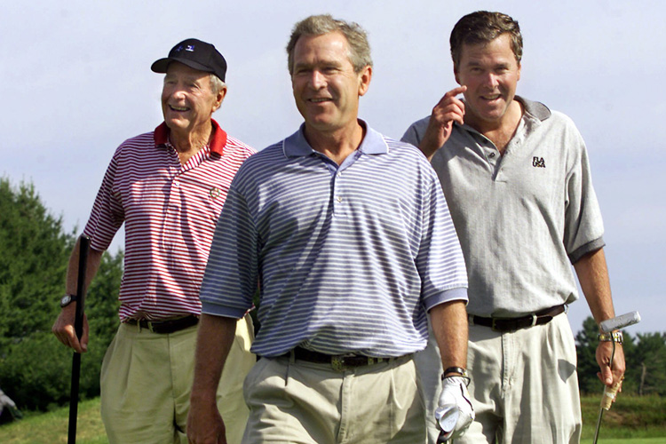 Will Jeb Bush, right, in the family tradition, run for the presidency in 2016, following dad George and brother George W.?