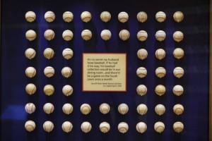 George W. Bush's autographed baseball collection, which once adorned the Oval Office, is now housed at the Bush Presidential Library.