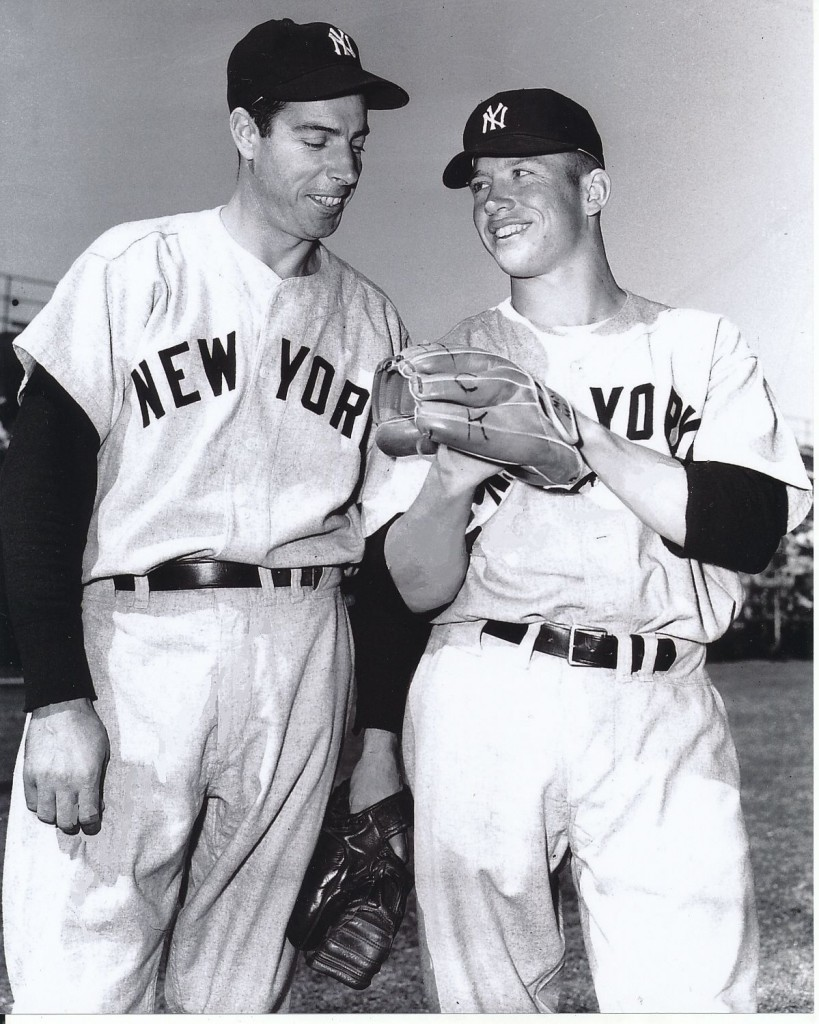 Joe DiMaggio and Mickey Mantle at spring training camp in 1951.