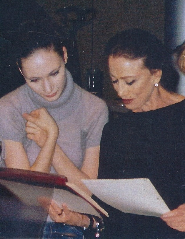 Liudmila Konovalova listens to her idol and mentor Maya Plisetskaya go over her ballet choreography. (Courtesey of Liudmila Konovalova, © Copyright 2016.)