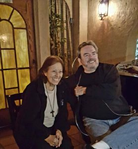 Lucy Casado with songwriter and longtime friend Jimmy Webb at the restaurant. (From Philip Bailey's Facebook page)