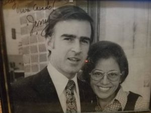 Jerry Brown during his first term as governor with restaurateur Lucy Casado, his beloved friend who died Tuesday.