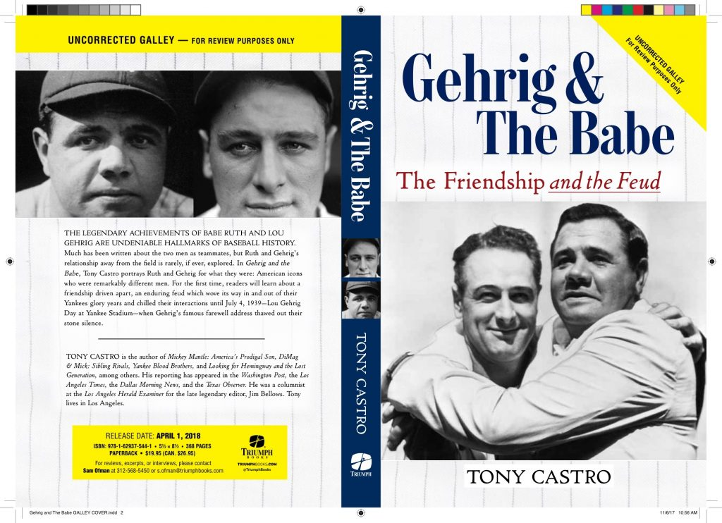 Gehrig and The Babe GALLEY COVER loRes